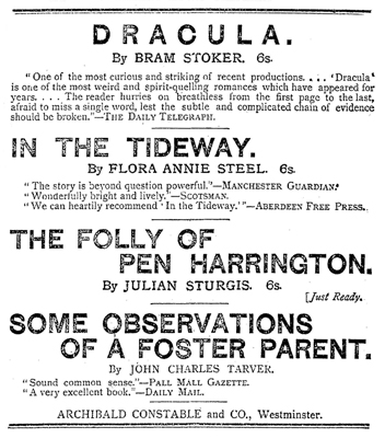 Dracula Publication Notice