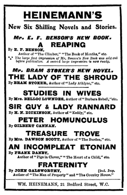 The Lady of the Shroud Publication Notice